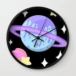 Melty Minty Planet Wall Clock