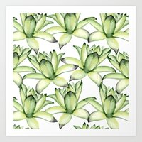 succulents Art Prints featuring Succulents by Julia Badeeva