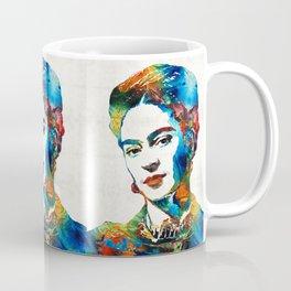 Frida Kahlo Art - Viva La Frida - By Sharon Cummings Coffee Mug