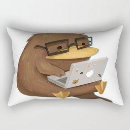 Nerdy Platypus Rectangular Pillow