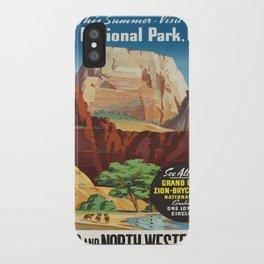 Vintage poster - Zion National Park iPhone Case