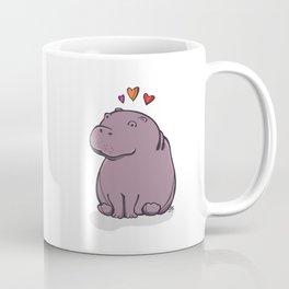 Hippo and Hearts Coffee Mug