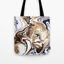 Liquid Bronze and Marble Tote Bag