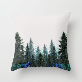 MOUNTAIN FOREST PINES LANDSCAPE  ART Throw Pillow