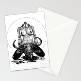 asc 729 - La lune de chasse (Two went in. I came out) Stationery Cards