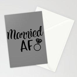 Married AF - Grey Stationery Cards