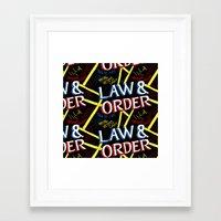 law Framed Art Prints featuring LAW & ORDER by Josh LaFayette