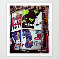 New York City Broadway Signs Art Print