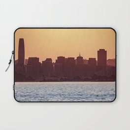 The Sun Set on The Golden City Laptop Sleeve