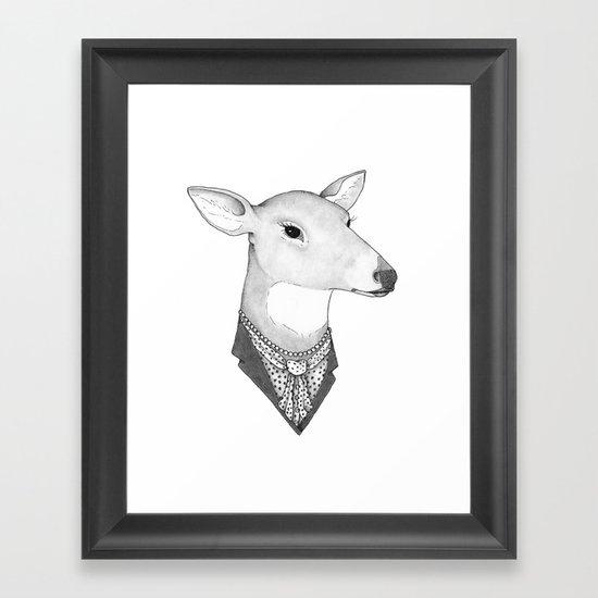 Mrs. Deer Framed Art Print