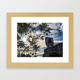 Sunshine Over the Citgo Sign Framed Art Print