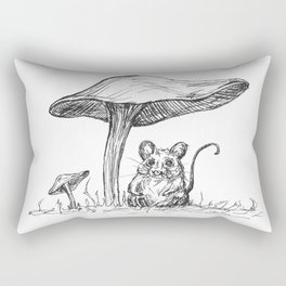 Sheltering Mousey Rectangular Pillow
