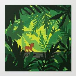 Lion King - Simba Pattern Canvas Print