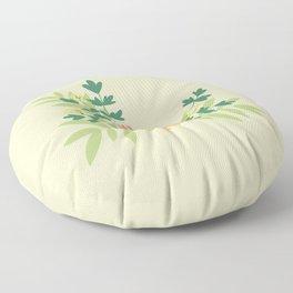 Citrus Floral Floor Pillow