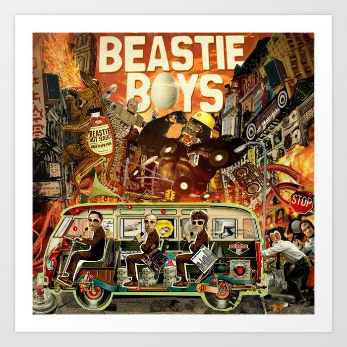 Beastie Invasion Art Print