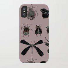 Entomology black and Antique Rose iPhone X Slim Case