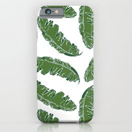 Nouveau Banana Leaf in White Pearl iPhone Case