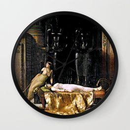 The Death Of Cleopatra Wall Clock