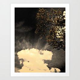 a dark day,, Art Print