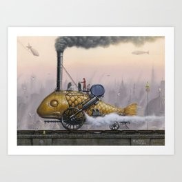 Steamed Fish Art Print
