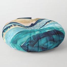Midnight Ocean Floor Pillow
