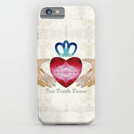 Friendship Love Art - Best Friends Forever - Sharon Cummings iPhone Case
