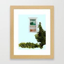 Turquoise Window Framed Art Print