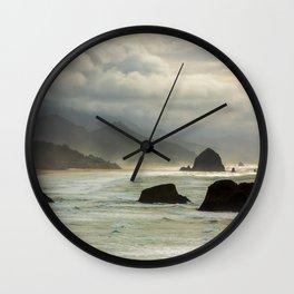 Cannon Beach Mood Wall Clock