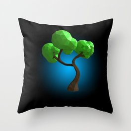Cute Polygon Tree! Throw Pillow