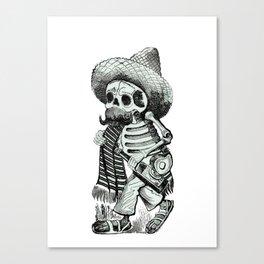 The Happy Skeleton Canvas Print