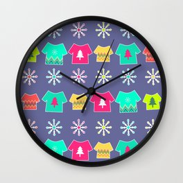 Christmas tees Wall Clock
