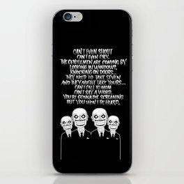 Buffy the Vampire Slayer -- Hush Poster (Black) iPhone Skin
