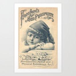 Hopsfords Acid Phosphate Remedy Vintage Advertising Design Art Print