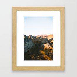 First Light on Rams Head III Framed Art Print