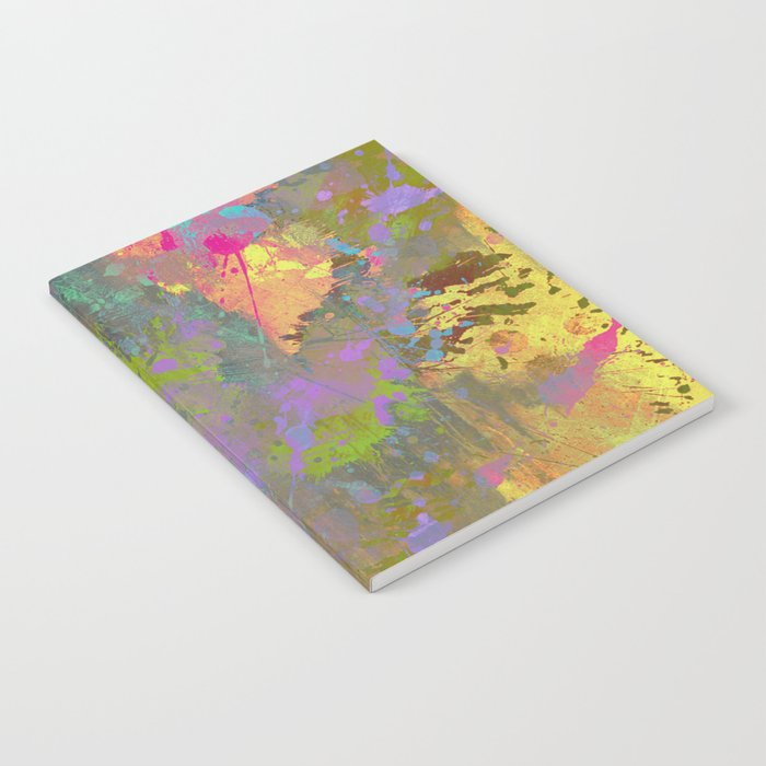 Messy Art II - Abstract, pastel coloured artwork in a random, chaotic, messy style Notebook