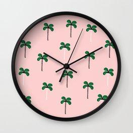 Miami Palms Wall Clock
