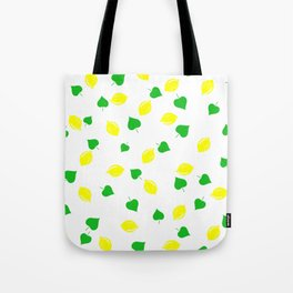 Lemon and Leaves Tote Bag