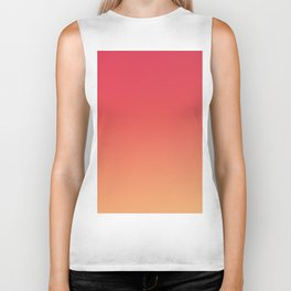 PEACHES - Minimal Plain Soft Mood Color Blend Prints Biker Tank