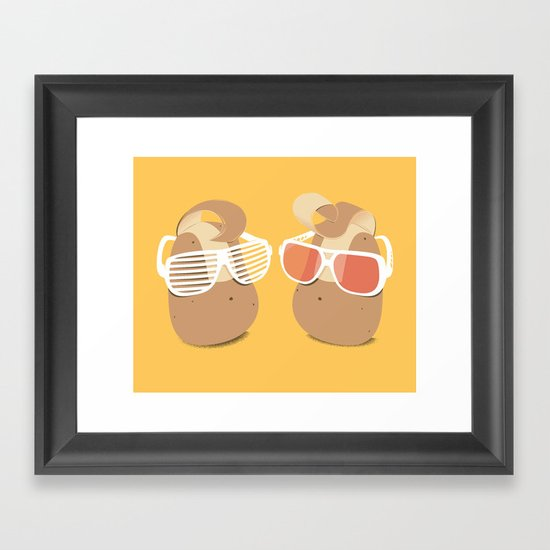 Cool Potatoes Framed Art Print
