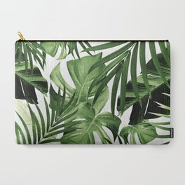 Tropical Jungle Leaves Pattern #12 #tropical #decor #art #society6 Carry-All Pouch