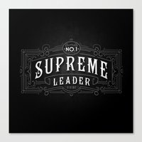 supreme Canvas Prints featuring Supreme Leader by UiNi