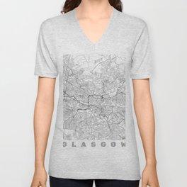 Glasgow Map Line Unisex V-Neck