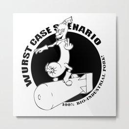 Wurst Case Scenario Logo Metal Print