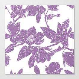 Magnolia Bouquet seamles pattern Canvas Print