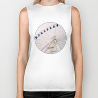 ferris wheel Biker Tanks featuring Ferris Wheel by Pati Designs