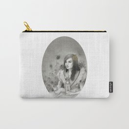 Cat Lady in Garden Carry-All Pouch
