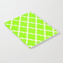 Moroccan Quatrefoil Pattern: Lime Green Notebook