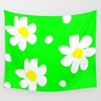 daisies Wall Tapestries featuring Daisies by Vitta