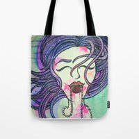 sister Tote Bags featuring Sister by Taylor James