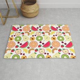 Fruit pattern colorful illustration Rug